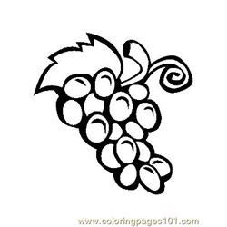 Grape (3) Free Coloring Page for Kids