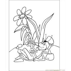 Flip The Grasshopper Coloring Page Free Coloring Page for Kids