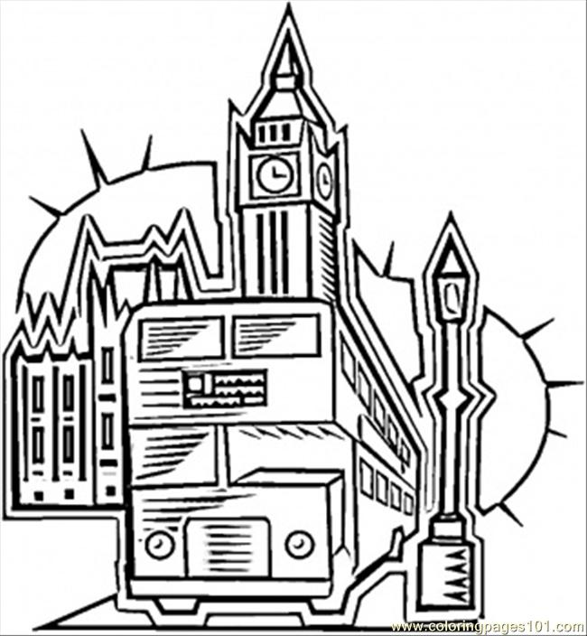In London Coloring Page Free