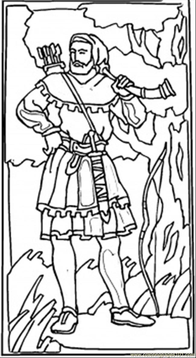 Robin Hood British Hero Coloring Page