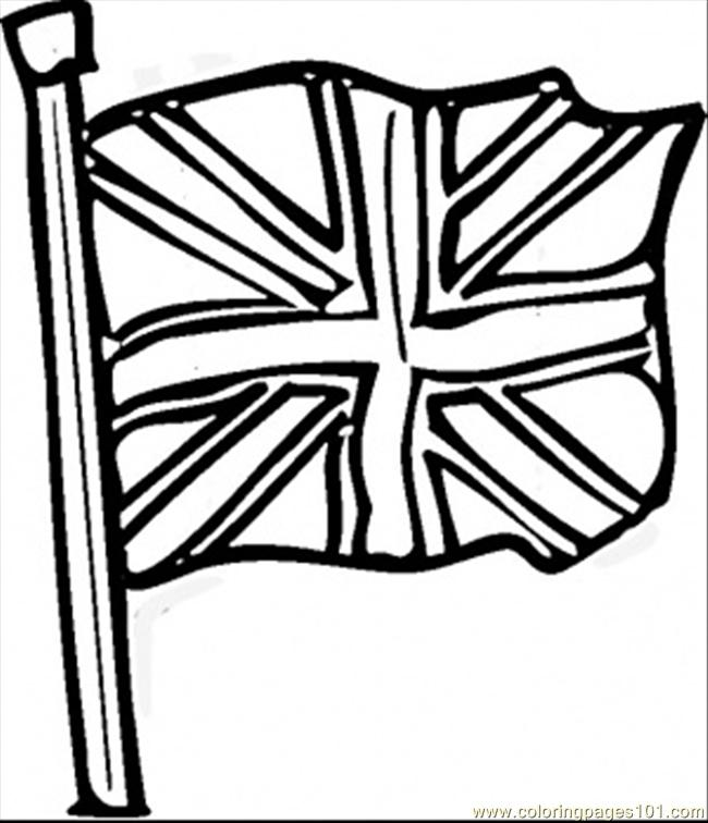 - British Flag Coloring Page - Free Great Britain Coloring Pages :  ColoringPages101.com