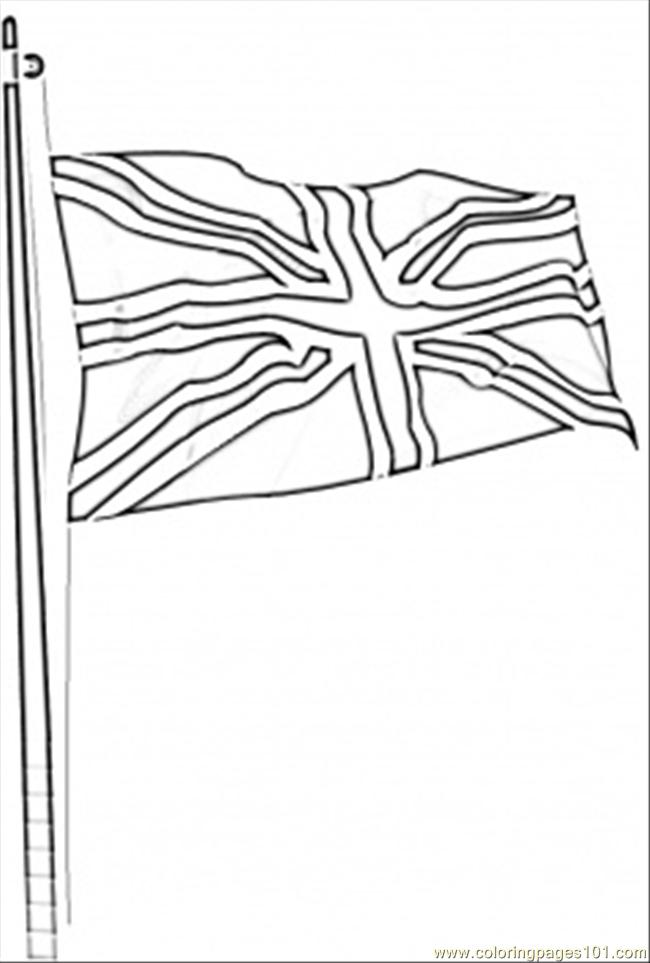 Flag Of Great Britain Coloring