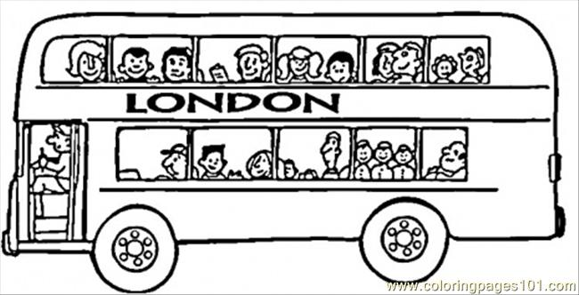 London Bus Coloring Page