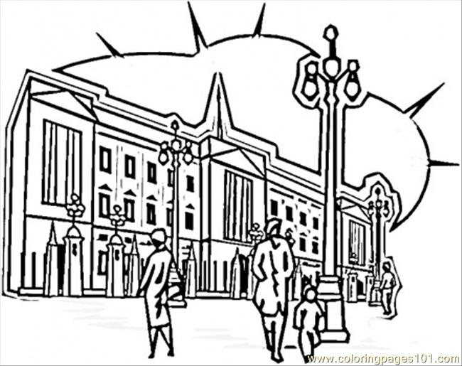 London Streets Coloring Page