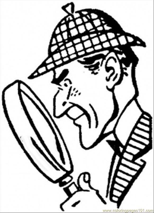 Sherlock Holmes Coloring Page - Free Great Britain Coloring Pages ...