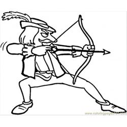 Robin Hood Free Coloring Page for Kids
