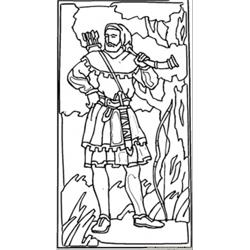 Robin Hood British Hero Free Coloring Page for Kids