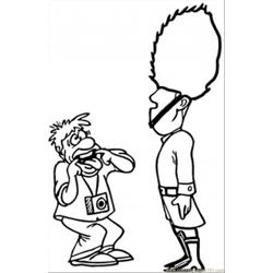 Tourist And Guard Free Coloring Page for Kids