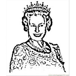 Royal Queen Free Coloring Page for Kids