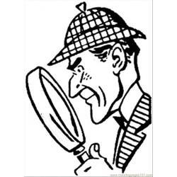 Sherlock Holmes Free Coloring Page for Kids