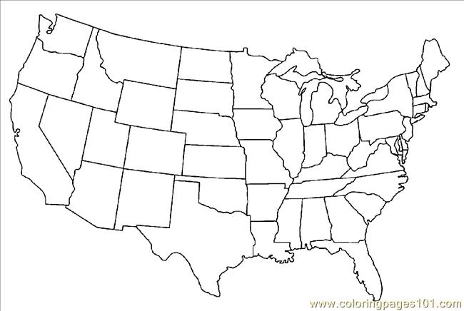 Ted States Map Coloring Pages Coloring Page