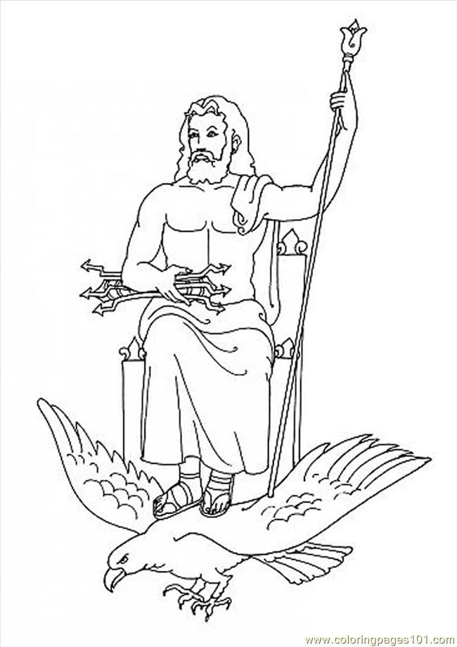 Zeus Coloring Page Source 3gs Coloring Page