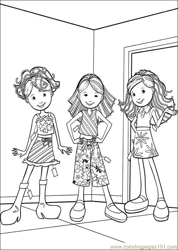 Groovy Girls 40 Coloring Page