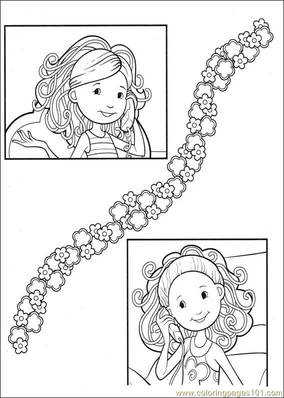 Groovy Animals Coloring Pages Free : Groovy girls coloring page free