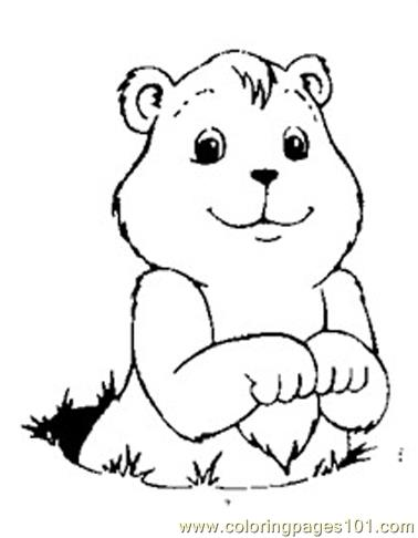 Groundhog luking Coloring Page - Free Groundhog or Woodchuck ...