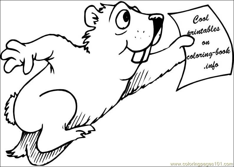 groundhog Runing Coloring Page