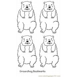 Groundhog four Free Coloring Page for Kids