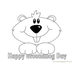 Groundhog luking happy Free Coloring Page for Kids