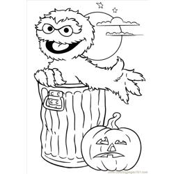 Oscar Halloween Free Coloring Page for Kids