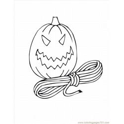 Halloween22 Free Coloring Page for Kids