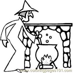 Halloweenwitch Rdax 6 Free Coloring Page for Kids