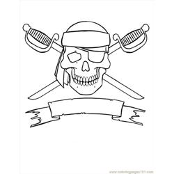 Jolly Roger Free Coloring Page for Kids