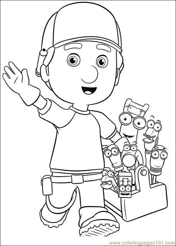 Handy Manny 02 Coloring Page