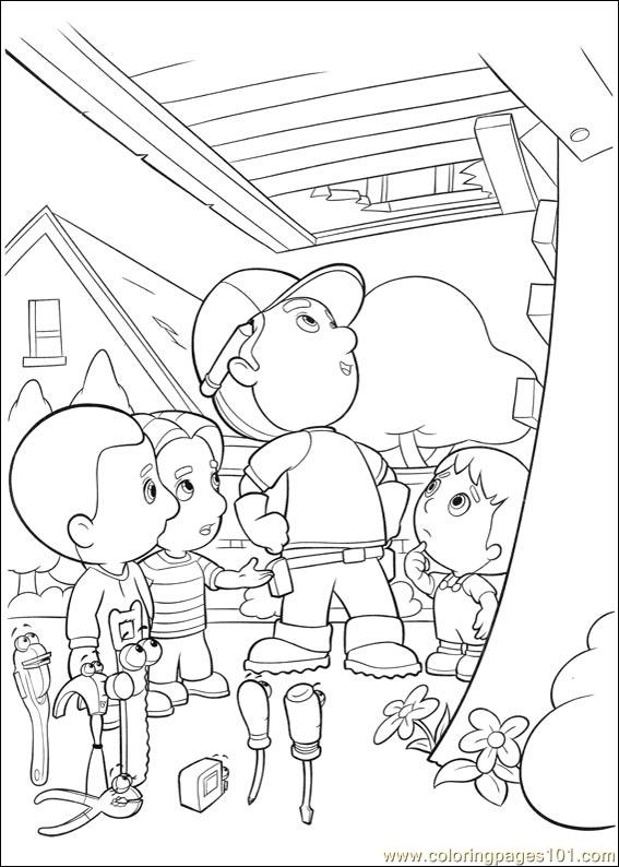 handy manny 30 coloring page
