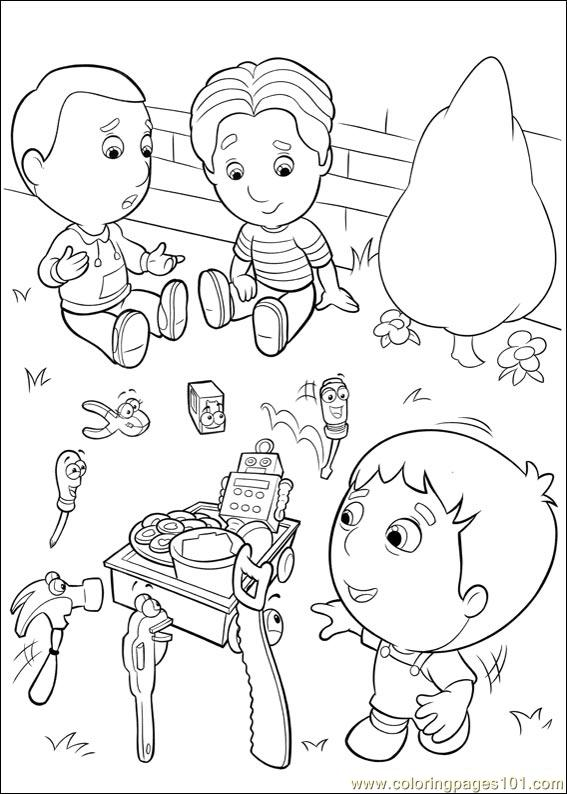 handy manny 35 coloring page