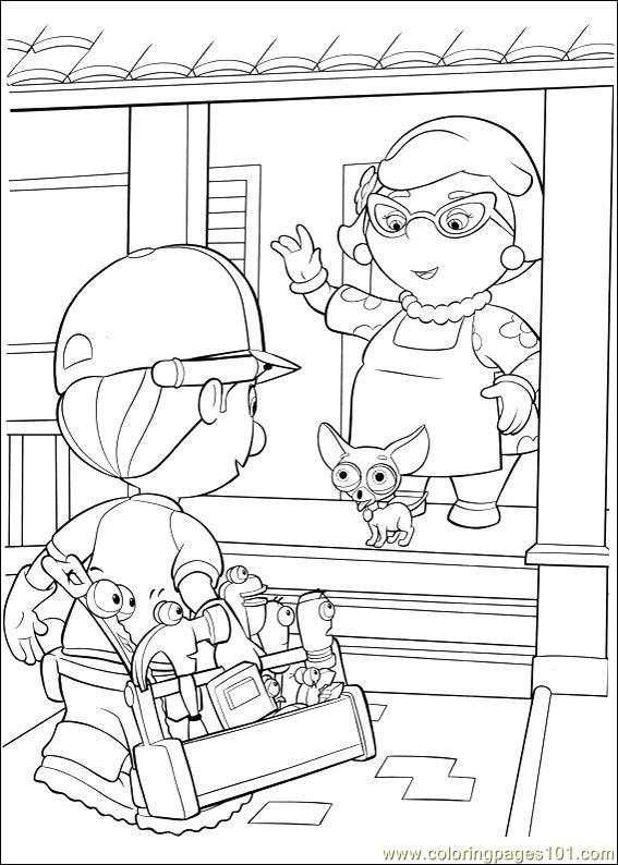 Handy Manny Coloring Pages 003 Coloring Page Free Handy Manny