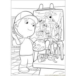 Handy Manny 32 Free Coloring Page for Kids