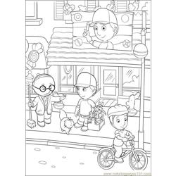 Handy Manny 33 Free Coloring Page for Kids