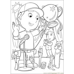 Handy Manny 37 Free Coloring Page for Kids