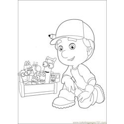 Handy Manny 39 Free Coloring Page for Kids