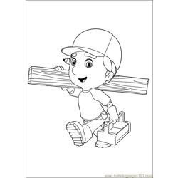 Handy Manny 40 Free Coloring Page for Kids