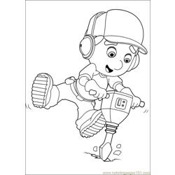 Handy Manny 41 Free Coloring Page for Kids