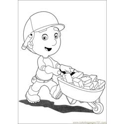 Handy Manny 42 Free Coloring Page for Kids