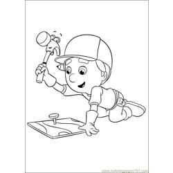 Handy Manny 49 Free Coloring Page for Kids