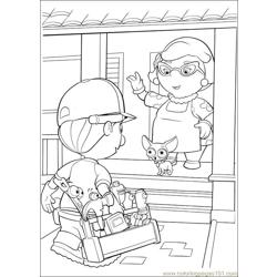 Handy Manny Coloring Pages 003 Free Coloring Page for Kids