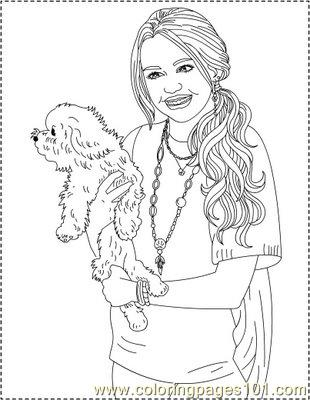 Hannah Montana coloring pages | 400x310