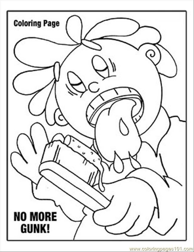 2 Gunk Coloring Page   Coloring Page