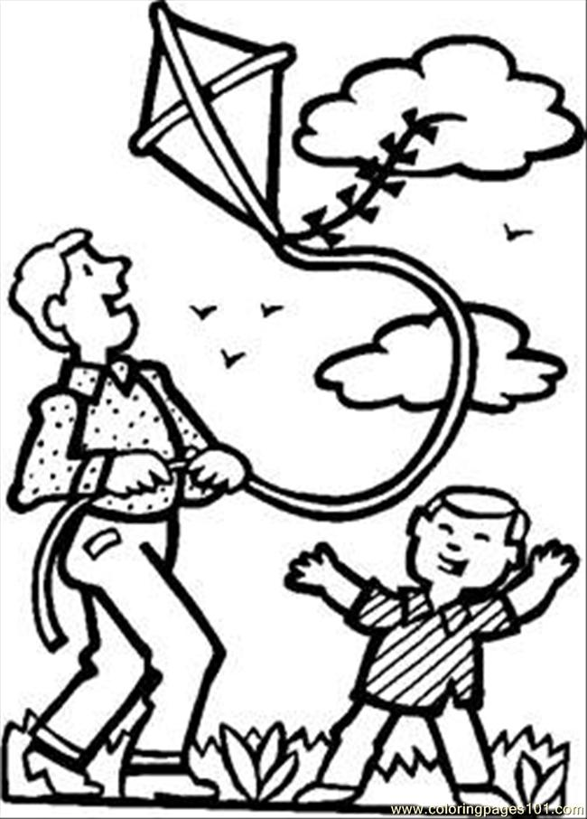 34 Dad Son Kite Rdax 65 Coloring Page