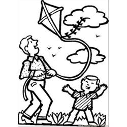 34 Dad Son Kite Rdax 65 Free Coloring Page for Kids