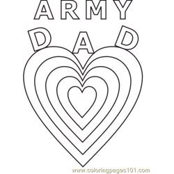 Army Dad Hearts