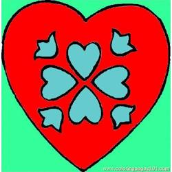 Heart40 Free Coloring Page for Kids