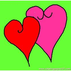 Hearts 1 Free Coloring Page for Kids