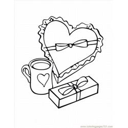 Heart07 coloring page