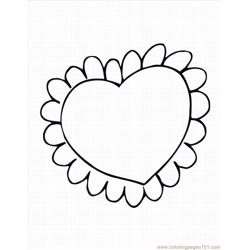 Heart 13 Lrg coloring page