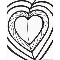Heart2 coloring page