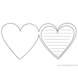Hearts Free Coloring Page for Kids